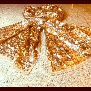 Cejon Gold scarf 100% polyester
